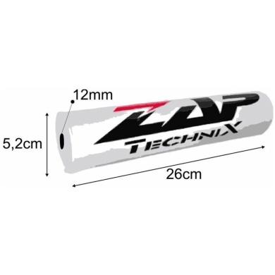 ZAP Set – Lenkerpolster schwarz + 2 Sticker + MX-Griffe Grau/Rot + Donuts 2