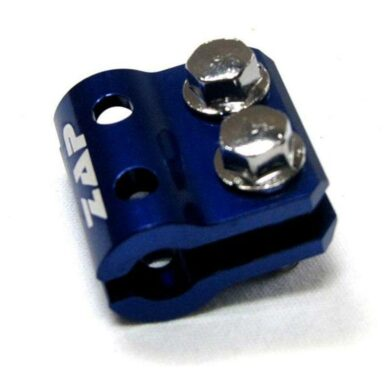 Halter Bremsleitung vo. KX(F), RM(Z) 05- blau