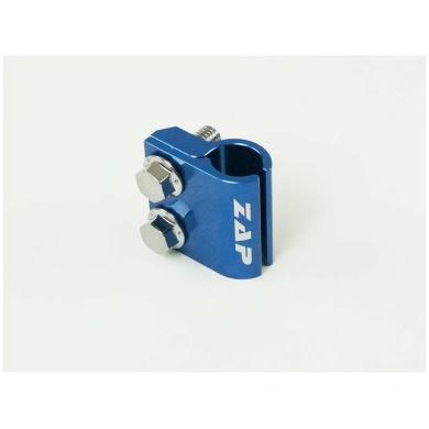 Halter Bremsleitung vo. CR(F), YZF 05- blau