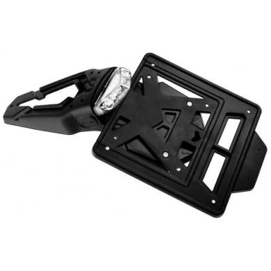 Kennzeichenhalter LED, INTEGRA Racing schwarz (60°) 2