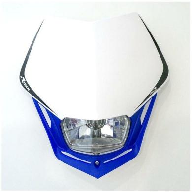 Lampenmaske V-Face blau/weiß