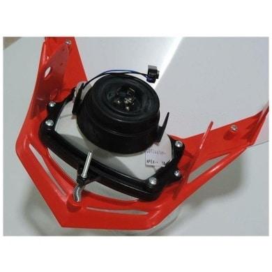 Scheinwerfer Motorrad Lampenmaske V-Face rot/weiß universal 35/35W + Standlicht, R-MASKBNRS008 2
