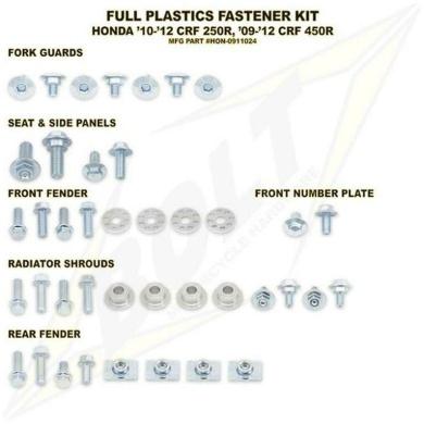 BOLT Schraubenkit für Plastikteile CRF 450 09-12, CRF 250 10-13