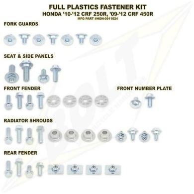 BOLT Schraubenkit für Plastikteile CRF 450 13-16, CRF 250 14-17 3