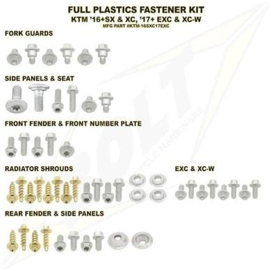 BOLT Schraubenkit für Plastikteile KTM SX(F) 16-18 / EXC(F) 17-19