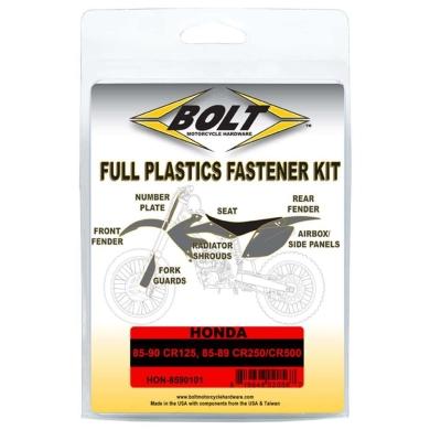 BOLT Schraubenkit für Plastikteile Honda 85-90 CR 125, 85-89 CR 250/CR 500
