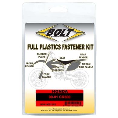 BOLT Schraubenkit für Plastikteile Honda 90-01 CR 500