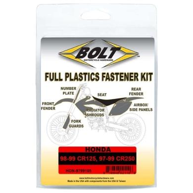 BOLT Schraubenkit für Plastikteile Honda 98-99 CR 125, 97-99 CR 250