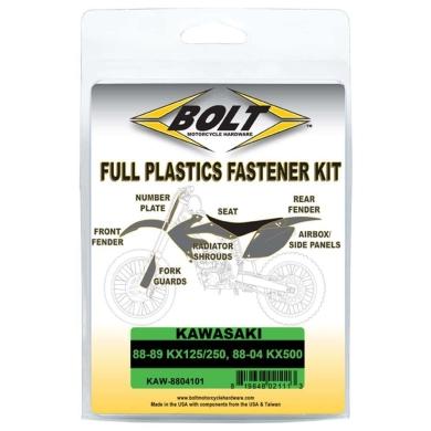 BOLT Schraubenkit für Plastikteile Kawasaki 88-89 KX 125/250, 88-04 KX 500