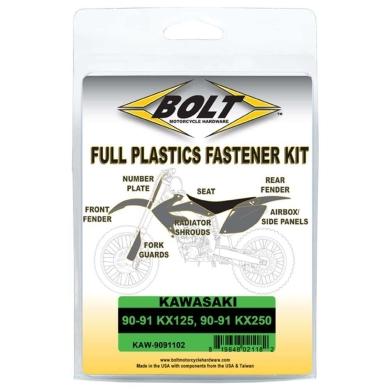 BOLT Schraubenkit für Plastikteile Kawasaki 90-91 KX 125, 90-91 KX 250