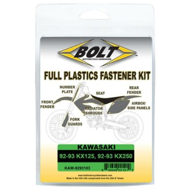 BOLT Schraubenkit für Plastikteile Kawasaki 92-93 KX 125, 92-93 KX 250