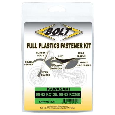 BOLT Schraubenkit für Plastikteile Kawasaki 98-02 KX 125, 98-02 KX 250 3