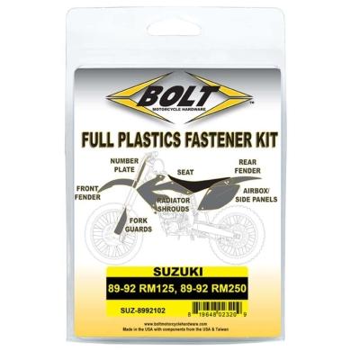 BOLT Schraubenkit für Plastikteile Suzuki 89-92 RM 125, 89-92 RM 250