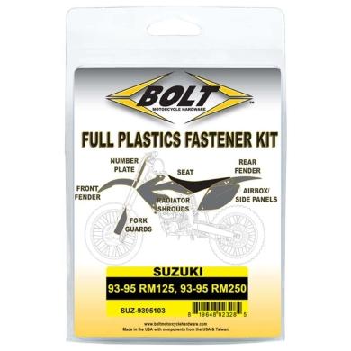 BOLT Schraubenkit für Plastikteile Suzuki 93-95 RM 125, 93-95 RM 250