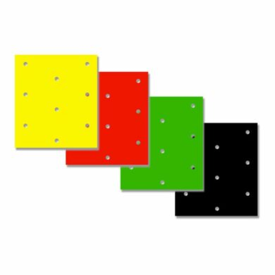 Dicke Folie 3 Stück Rot gelocht 47 x 33 cm